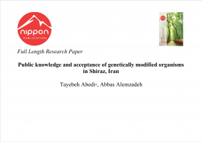 Public knowledge and acceptance of genetically modified organisms in Shiraz, Iran