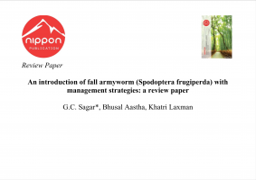 An introduction of fall armyworm (Spodoptera frugiperda) with management strategies: a review paper