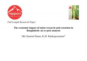 The economic impact of onion research and extension in Bangladesh: an ex-post analysis