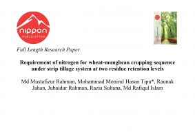 Requirement of nitrogen for wheat-mungbean cropping sequence under strip tillage system at two residue retention levels