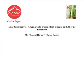 Dual Specificity of Alternaria to Cause Plant Disease and Allergic Reactions
