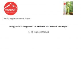 Integrated Management of Rhizome Rot Disease of Ginger